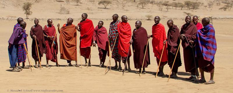 Maasai Warriors in Ngorongoro