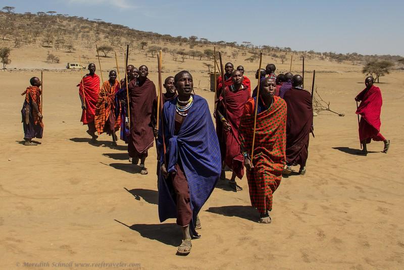Maasai Men Dancing