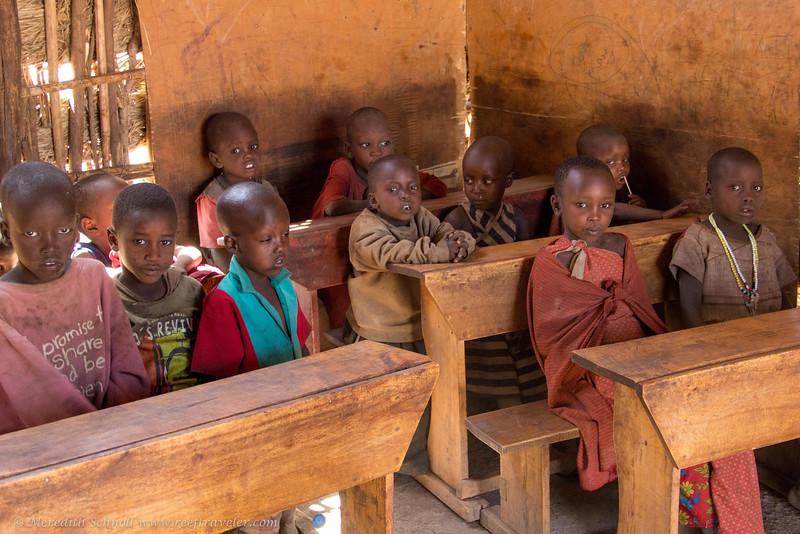 Young Maasai Children at School in Ngorongoro