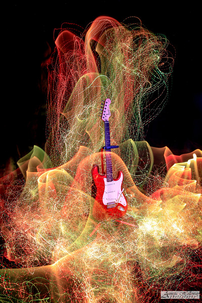 Light Painting a Guitar 9-12-18 by Annette Holloway Photog