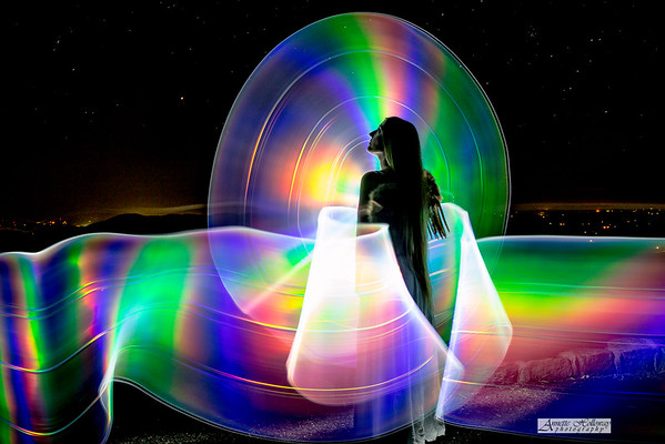 An angel on the parkway Painter: Jason D. Page  Photographer: © Annette Holloway Photography Mid Atlantic Light Painting Meetup in Buchanan VA 5-10-18