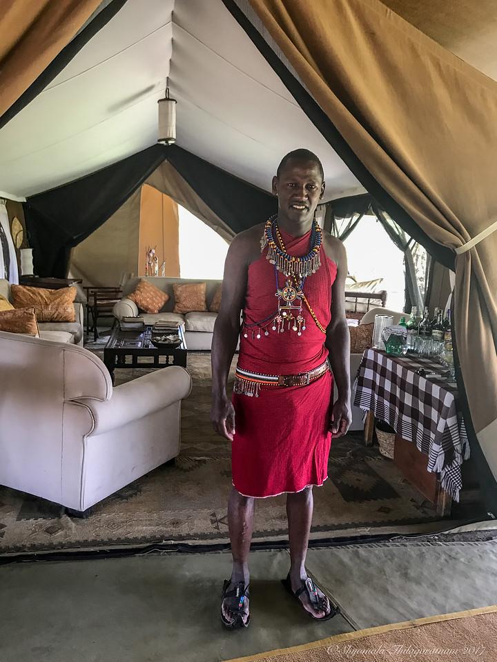 Moses, head honcho at Alex Walker's Serian Nkorombo Camp