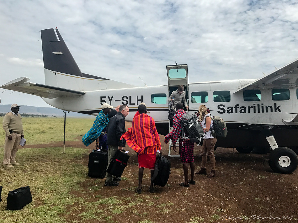 Arriving in the Mara in a little 12-seater