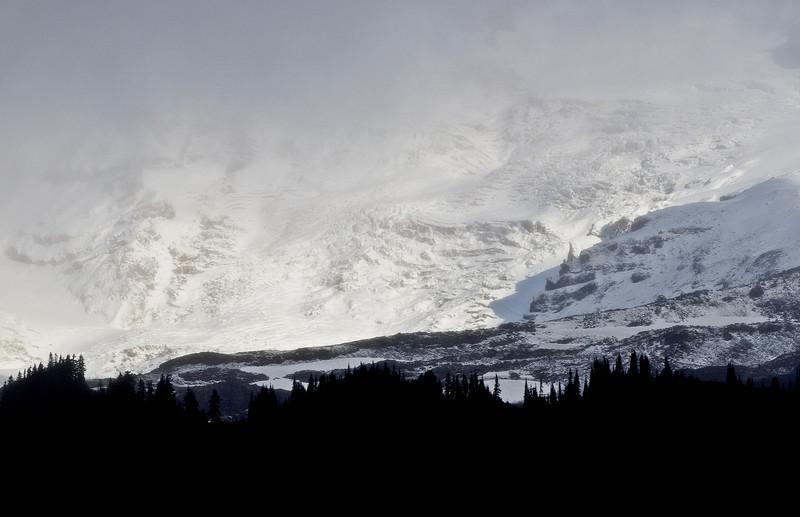 Fresh Snow On Mt Rainier