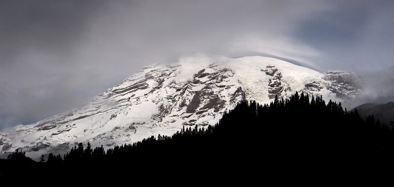 Storm Clouds Lifting Over Mount Rainier