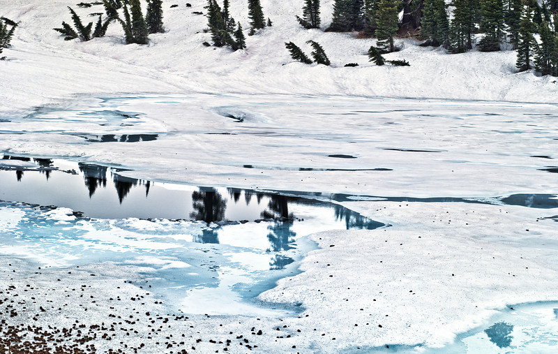 Reflections Through Ice & Snow - Mt Lassen National Park