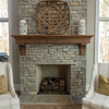 Connie Harrell designed her own Craftsman-style mantel.