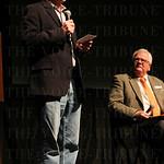 Filmmaker Morgan Atkinson and Keith Runyon.