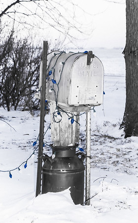 Christmas Mail Box Closeup