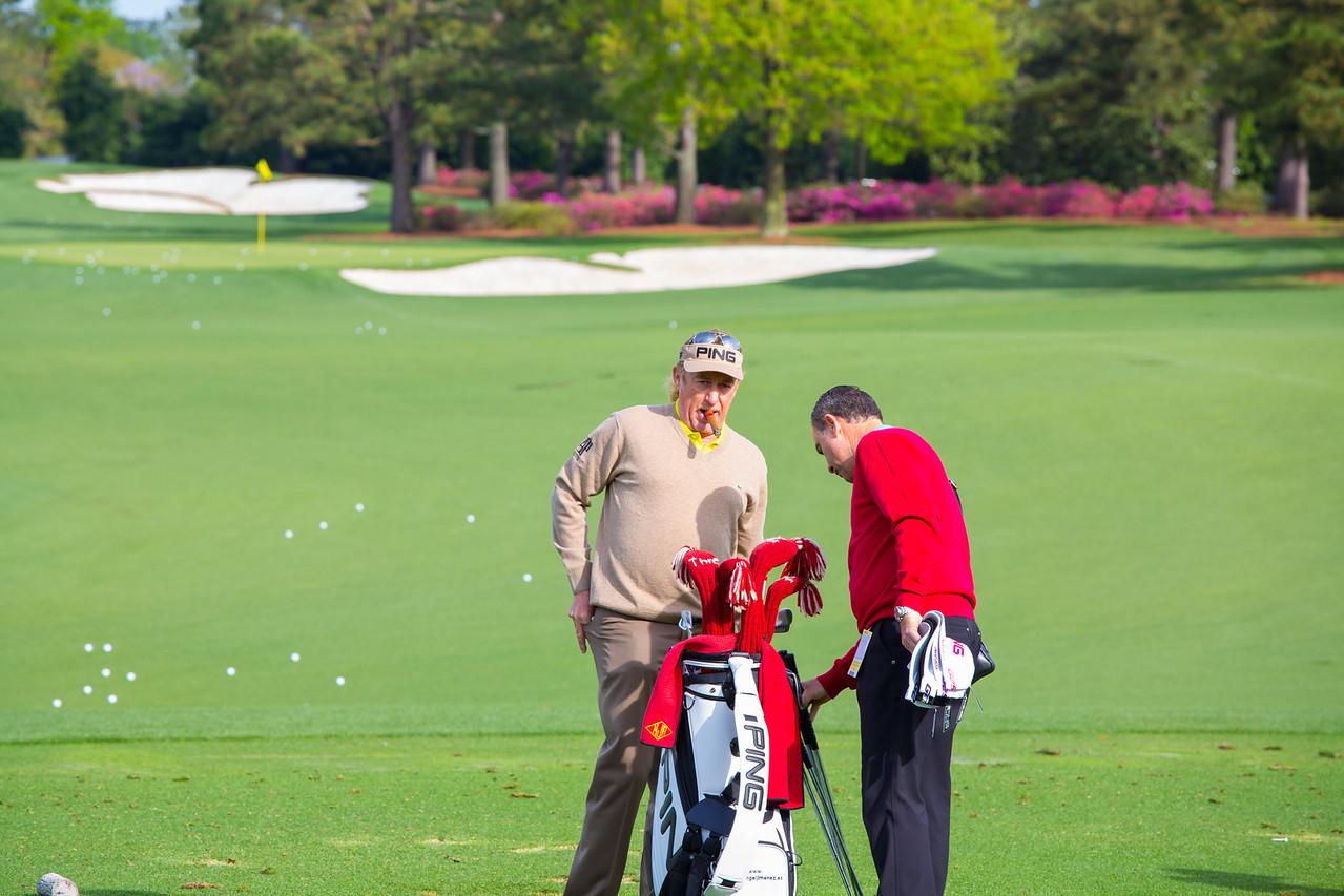 Miguel Angel Jimenez on the Practice Range