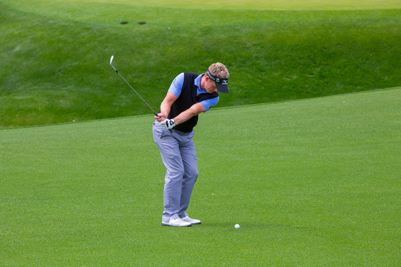Luke Donald with a 50 yard chip