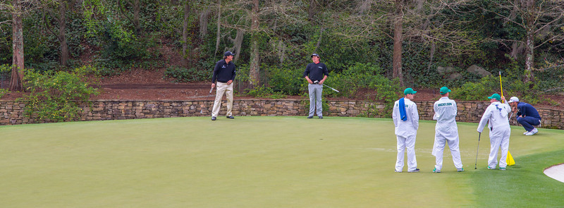 Phil Mickelson & Jason Dufner on the 11th green
