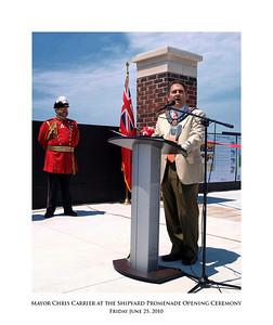 Mayor Chris Carrier at the Shipyard Promenade Opening Ceremony 03