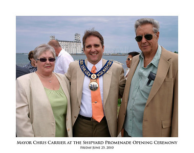 Mayor Chris Carrier at the Shipyard Promenade Opening Ceremony 12