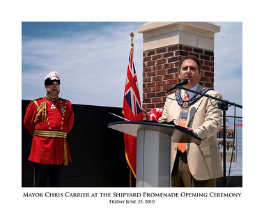 Mayor Chris Carrier at the Shipyard Promenade Opening Ceremony 04
