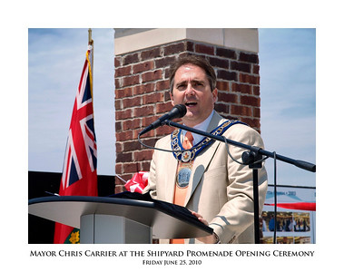 Mayor Chris Carrier at the Shipyard Promenade Opening Ceremony 02