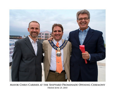 Mayor Chris Carrier at the Shipyard Promenade Opening Ceremony 11