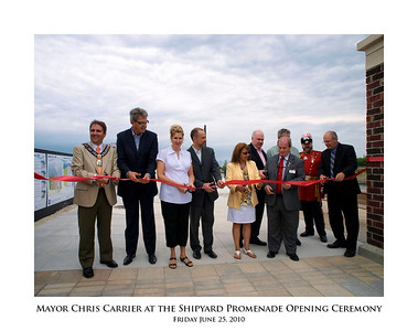 Mayor Chris Carrier at the Shipyard Promenade Opening Ceremony 06