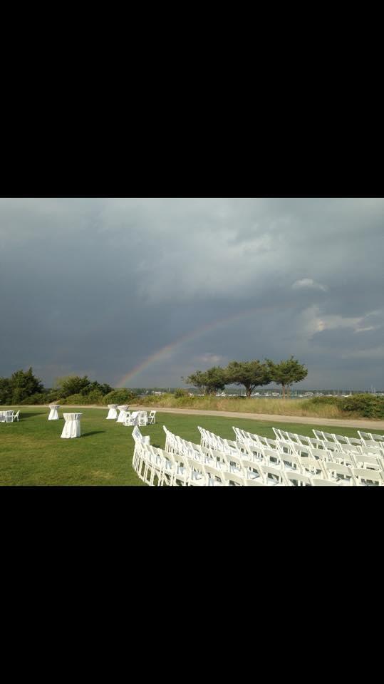 brittany and john rehersal rainbow