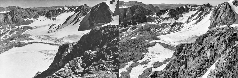 Knife Point Glacier, 1950 (L) and 2020 (R).