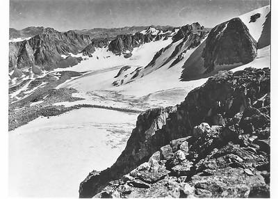 Mark F. Meier, 1950. Knife Point Glacier, Wind River Range, WY.