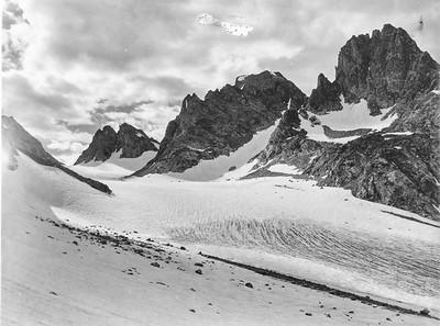 Mark F. Meier, 1950. Helen Glacier, Wind River Range, WY.