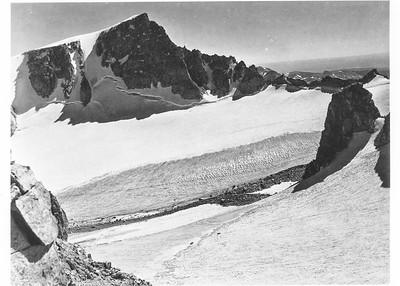 Mark F. Meier, 1950.  Bull Lake Glacier, Wind River Range, WY.