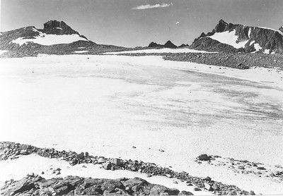 Mark F. Meier, 1950. Upper Fremont Glacier, Wind River Range, WY.
