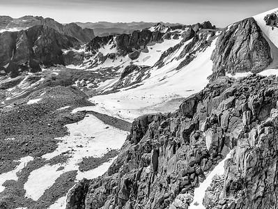 Ed Sherline, 2020.  Knife Point Glacier, Wind River Range, WY.