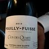 Clos des Quarts Poully-Fuisse' 2013