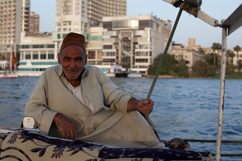 Felucca boat captain  Cairo, Egypt