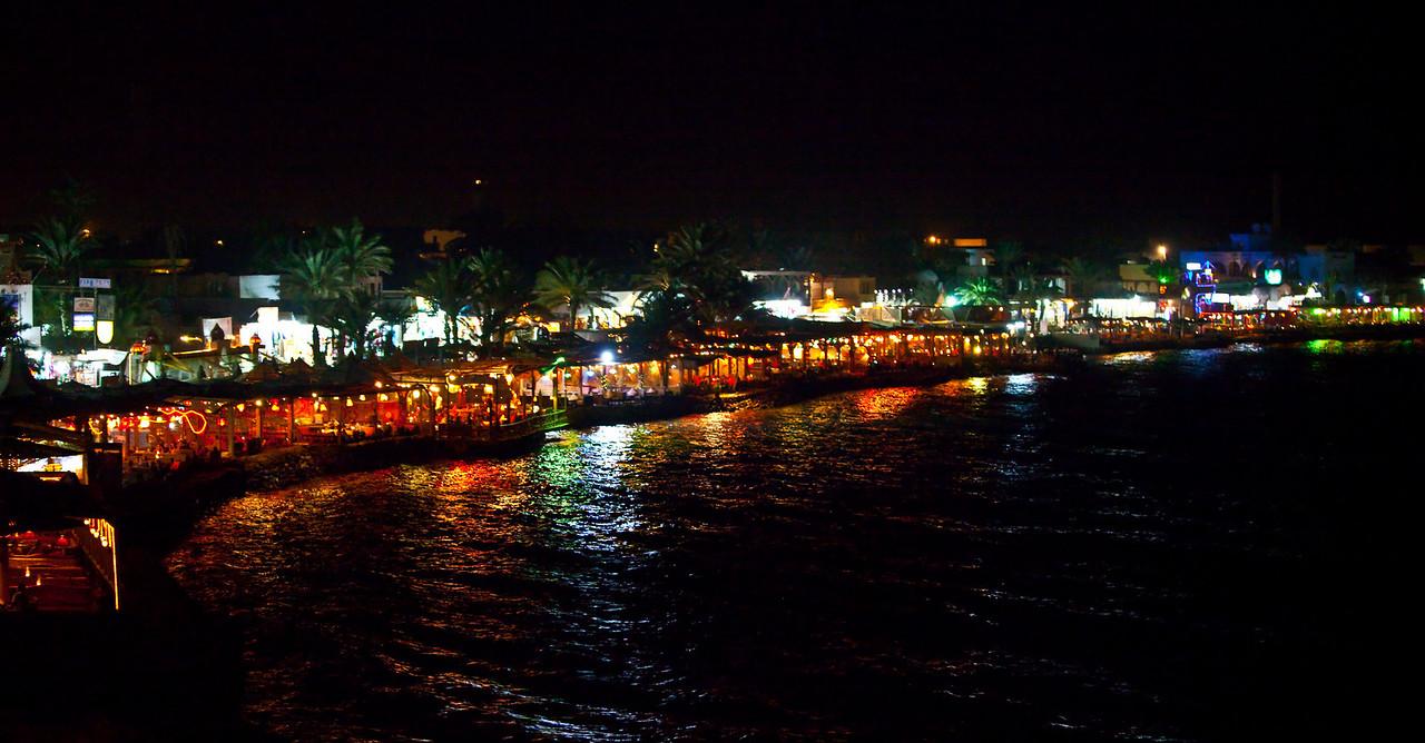 Dahab Boardwalk at Night  Dahab, Egypt