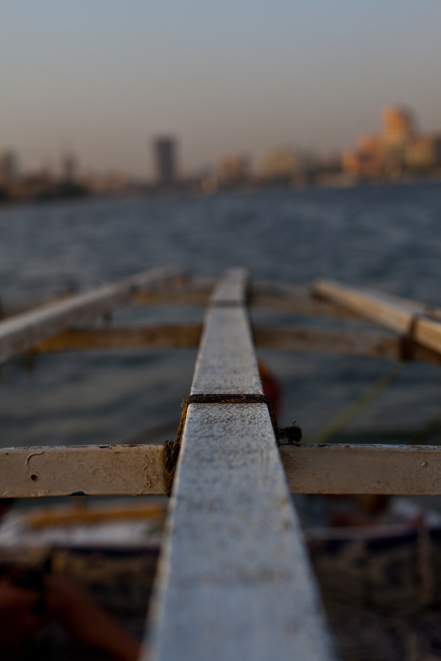 Felucca trip on the Nile.  Cairo, Egypt