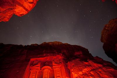 Petra at night  Petra, Jordan