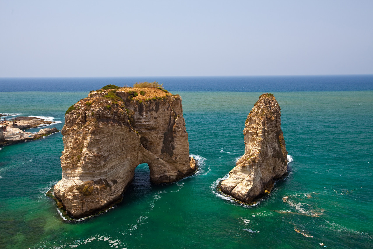 Pigeons' Rock  Beirut, Lebanon
