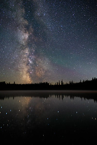 Idleback Lake Misty Milky Way -Vertical Shot