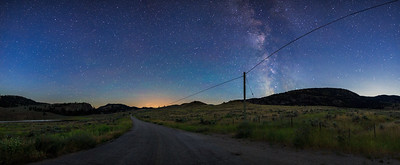 White Lake Milky Way Panoramic 2017