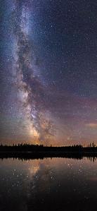 Idleback Lake Milky Way- Vertical Pan 2017