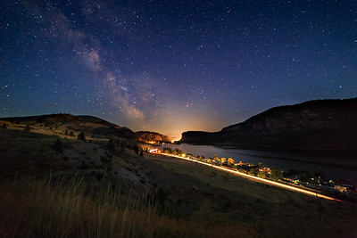 Vaseux Milky Way Light Trails