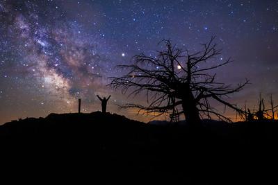 Mt Kobau Milky Way Selfie