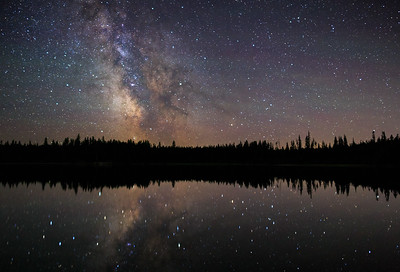 Idleback Lake Milky Way July 2017