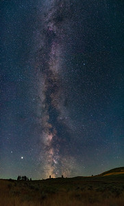 White Lake Grasslands Milky Way Vertical Pan 2020