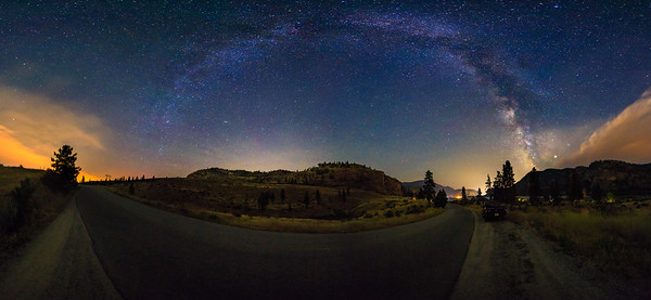 The Road to Vaseux - Milky Way Arch