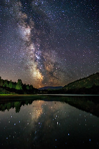 Green Lake Milky Way Mirror.