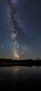Idleback Lake Misty Milky Way -Vertical Pan 2020