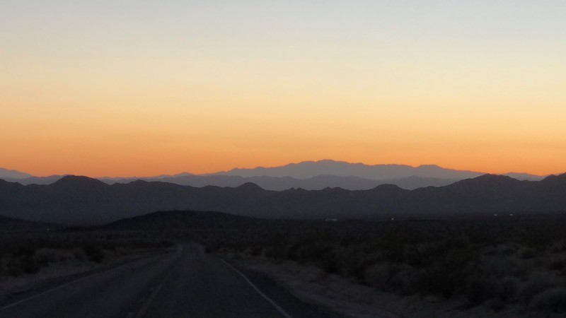 Sunset Over Mojave