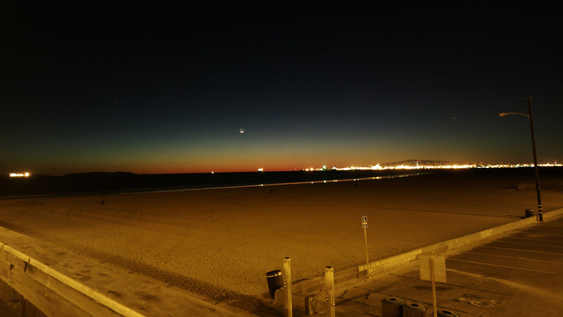Mars, The Moon, and the Busy Sea & Skies of Long Beach