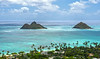 Mokulua Islands from Lanikai Ridge<br /> May 6, 2012