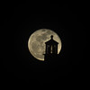 Nearly Full Moon behind the Makapuu Lighthouse<br /> May 6, 2012