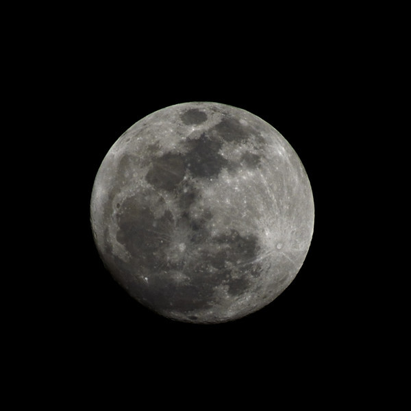 Nearly Full Moon on May 4, 2012